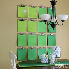 Clipboards: A Simple Way to Change Your Décor ~ Madigan Made { simple DIY ideas }