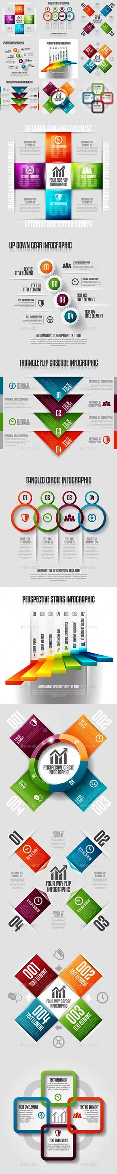 Infographic Set 19 — Photoshop PSD #banner #graphic • Available here → https://graphicriver.net/item/infographic-set-19/12999648?ref=pxcr