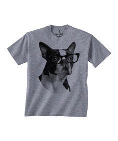 Gray Boston Terrier Tee - Toddler & Boys #zulily #zulilyfinds