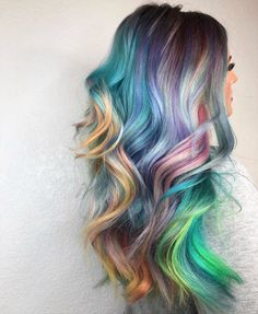 When your My Little Pony and Lisa Frank hair dreams come true. Loving this look by Blond Pastel, Pastel Ombre, Ombre Blond, Dyed Hair Pastel, Balayage Ombré, Corte Y Color, Guy Tang, Coloured Hair, Hair Colors