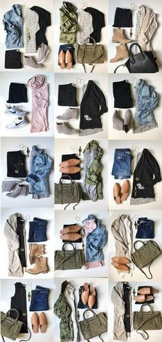 One of my favorite posts to date! Sharing a functional, comfy & chic Fall Capsule Wardrobe for busy moms! Only 25 affordable pieces & countless combos! #wardrobebasicsforfall #wardrobebasicscasual