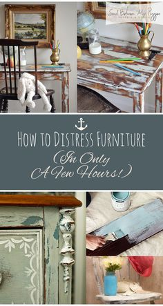 How to distress Furniture, How to Quickly Distress Furniture, Quick Tips and Tricks for FUrniture Distressing, Furniture Tips and Tricks, How to Paint Furniture, Furniture Painting Tips, Popular Pin