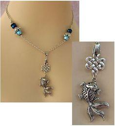 Silver Celtic Knot Fish Pendant Necklace