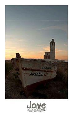 La Iglesia de Las Salinas de Cabo de Gata.  Foto de José Antonio Villarino