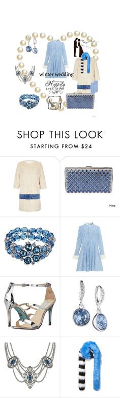 """Blue Wedding Guest Dress"" by clothingcollector1 ❤ liked on Polyvore featuring Unreal Fur, J. Furmani, 1928, Topshop Unique, Betsey Johnson, Givenchy, 2028, Charlotte Simone, C by Bloomingdale's and WALL"