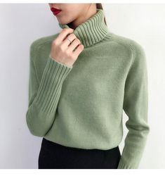 Cashmere Sweaters Women Loose Jumpers Wool Knit Split Thick Turtleneck Pullover Winter and other Pullovers. #sweater #winter #beautifulgirls #pullover #split #womensweater #fashion