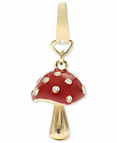 Fossil Charm, Gold-Tone Red Mushroom Charm