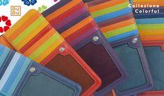 Portafogli uomo donna borse in pelle nappa multicolore Colorful DuDu - Leather wallet form woman and man  www.dudubags.com