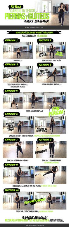 Today I bring you a routine of intense cardio, legs and buttocks step by step :) Let& combine squat exercises and other exercises. Thigh Toning Exercises, Toning Workouts, At Home Workouts, Fitness Workouts, Cardio Routine, Best Cardio Workout, Cellulite, Pilates, Crossfit