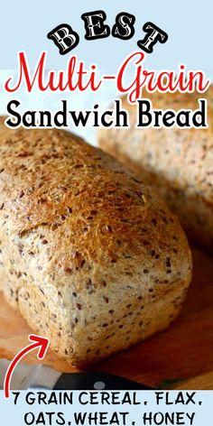 Bread Maker Recipes, Healthy Bread Recipes, Sandwich Bread Recipes, Healthy Homemade Bread, Multigrain Sourdough Bread Recipe, Oatmeal Bread Recipe, Best Bread Recipe, Scones, Croissants