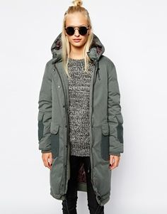 Selected Tinka Military Parka with Wool Panes