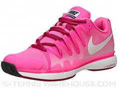 my new tennis shoes! Air Max Sneakers, Sneakers Nike, Tennis Warehouse, Key Biscayne, Tennis Fashion, Purple Roses, Court Shoes, Nike Zoom, Pink Grey
