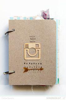 #papercraft #Scrapbook #minialbum. Summer 2013 RoadBook by celine navarro at @Studio_Calico