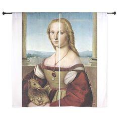 Lady with unicorn - Raphael Curtains on CafePress.com