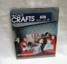 Little family dollhouse people McCall's crafts pattern 626 made in 1980 Unused by ConcealedTreasures on Etsy