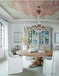LOVE the ceiling design!!! Ohara Davies-Gaetano. Featured in Veranda May/June 2014. Modern & Classic.