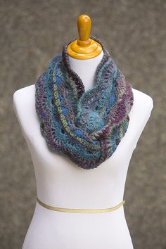 CROCHET PATTERN - Moonlit Waves Infinity Scarf
