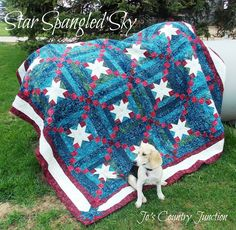 From Quiltmaker's preferred partners: Free quilt pattern for Star Spangled Sky on the Moda Bake Shop #freequiltpatterns