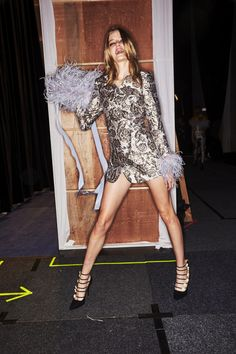 4f9cc693ebd Sonny Vandevelde - Alice McCall Resort 2018 Fashion Show Sydney Backstage