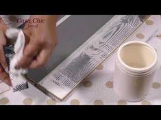 (16) L'effetto legno - YouTube Chalk Paint, Stencils, Shabby Chic, Diy, Tableware, Creative, Recherche Google, Cooking, Youtube