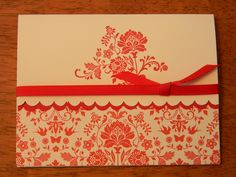 Red and white Stampin' Up! card