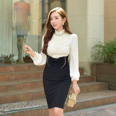 dabuwawa spring and autumn slim fashion lace collar blouse women-in Blouses & Shirts from Women's Clothing & Accessories on Aliexpress.com   Alibaba Group
