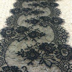3 м/лот ресниц кружевной ткани 33 см DIY декоративные высокое качество мягкий кремовый нейлон ресниц кружевной отделкой свадебное платье ткани RS324(China (Mainland))