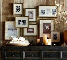 Gallery in a Box - Champagne finish Frames #potterybarn