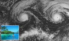 Two huge hurricanes are heading straight for Hawaii, with weather forecasters…