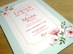 PRINTABLE 5x7 Shabby Chic Wedding Invitation by VanillaRetro, £19.95