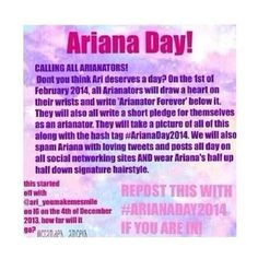 Please repin we have to do this for Ariana