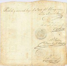 Pieza bbt10p-aa01-f4 (Reverso). Billete de Tesorería. 10 Pesos Fuerte. Diseño A, Tipo A. Fecha Octubre 01 1849. Serie F4
