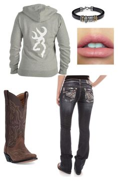 """""""Browning"""" by johndeerebabe on Polyvore featuring Laredo, Miss Me and Platadepalo"""