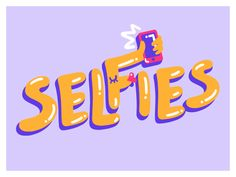 Selfies - Sticker by Marylou Faure #Design Popular #Dribbble #shots