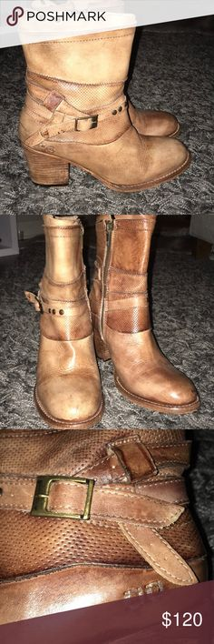 Bed stu heeled booties! Size 8! Bed Stu Shoes Ankle Boots & Booties
