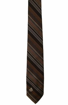 Via Re Mens Vintage Brown Diagonal Striped Polyester Dress Neck Necktie Tie 56in #ViaRe #Tie
