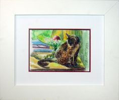 """""""Kelly With Grapes and Apple"""" Framed Original by Portraits Of Animals on Etsy."""