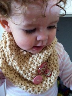 did you ever see anything more adorable than this?!      Organic Cotton Girls Neck Warmer, Cream with Pink and Red Buttons, Knit Scarf for Baby and Toddler