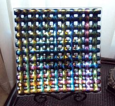 woven glass piece by Donna Staten