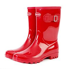 TONGPU Women's Outdoor Rain Boots Mid Calf Fishing Footwear Our company is specialized in Rain boots,our shoes exported to countries all over the world. Rain And Snow Boots, Rubber Rain Boots, Outdoor Woman, Fishing, Footwear, Boutique, Accessories, Shoes, Women
