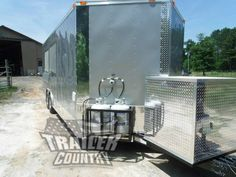 NEW 8.5 X 22 22' ENCLOSED CONCESSION FOOD VENDING BBQ MOBILE KITCHEN TRAILER - A/C- SINKS- CONCESSION EQUIPMENT - ELECTRICAL- LOADED #kitchen #trailer #mobile #vending #concession #food #enclosed Concession Trailer For Sale, Concession Food, Trailers For Sale, Used Food Trucks, Catering Trailer, News 8, Bbq, Patio, Outdoor Decor
