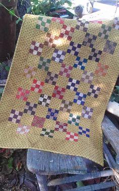 quiltsbycheri: still another little nine patch quilt......