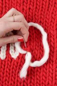 Chain stitch tutorial from Wool and the Gang