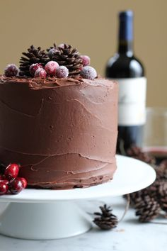 Chocolate Merlot Cake. Rich, fudgy, chocolatey goodness . . . with a hint of Merlot.