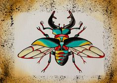 Stag beetle. £5.00, via Etsy.