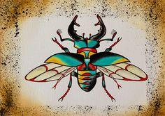 Stag beetle. £5.00, via Etsy.