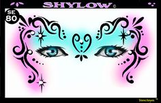 face painting stencils | Show Offs Stencil Eyes Shylow—Face Painting Tips Shop