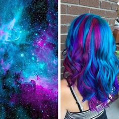 15 Galaxy Hair Ideas That Will Make You Starry-Eyed I want to try them all!!!!!!!