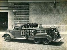1940s crash truck 10-100 lbs CO2 bottles.