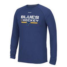 e4b9d9bd4 NHL Shop. Louis Blues Reebok Royal Center Ice Locker Room Supremium  Performance Long Sleeve T-Shirt